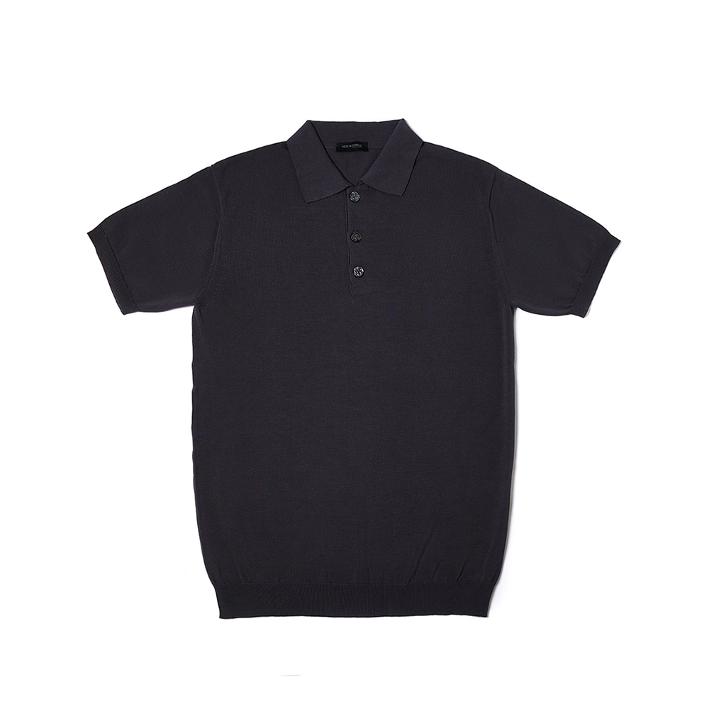 Cotton Knit Polo Shirt